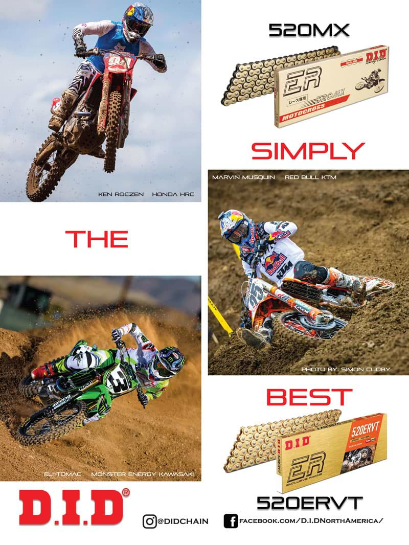 Racer X November 2019 - D.I.D. Advertisement