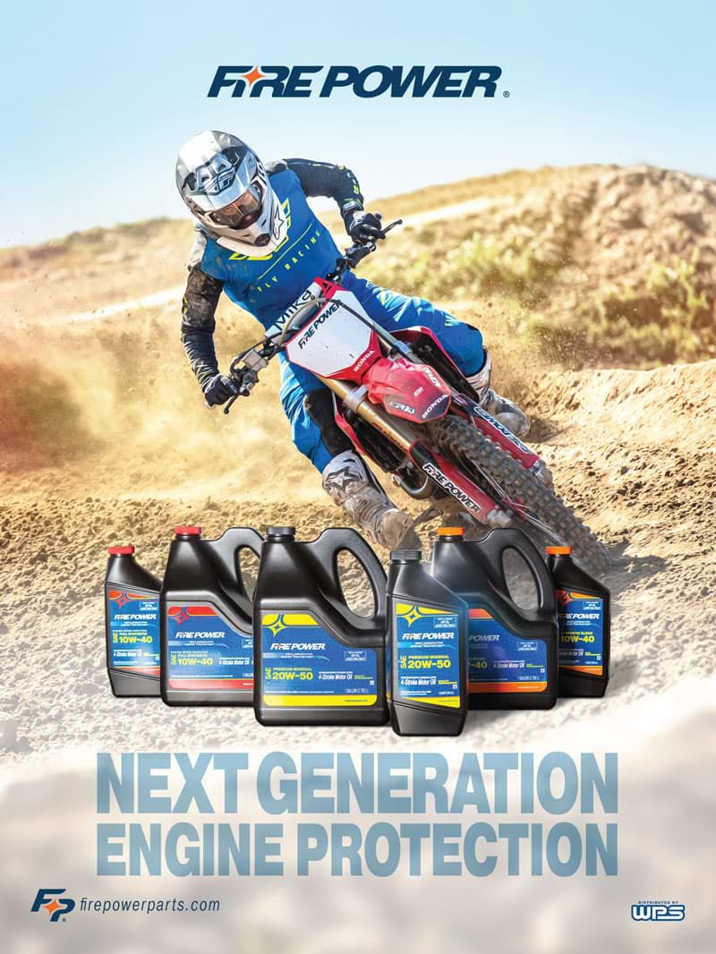 Racer X November 2019 - Fire Power Parts Advertisement