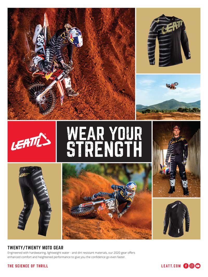 Racer X November 2019 - Leatt Advertisement
