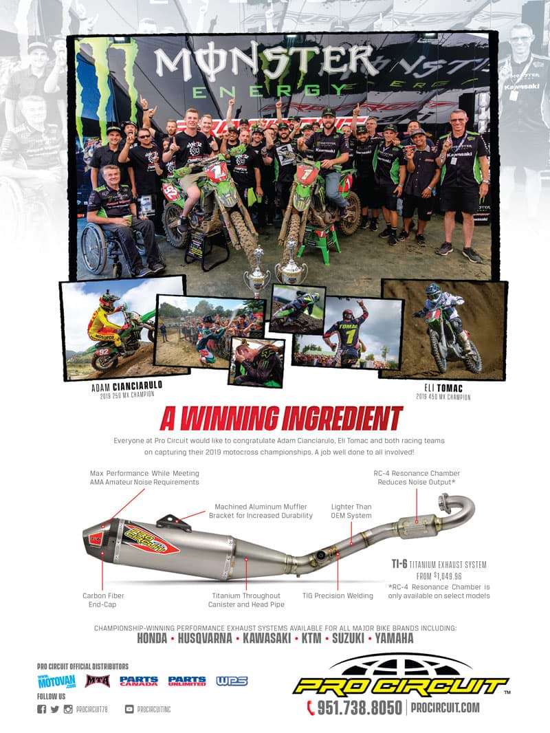 Racer X November 2019 - Pro Circuit Advertisement
