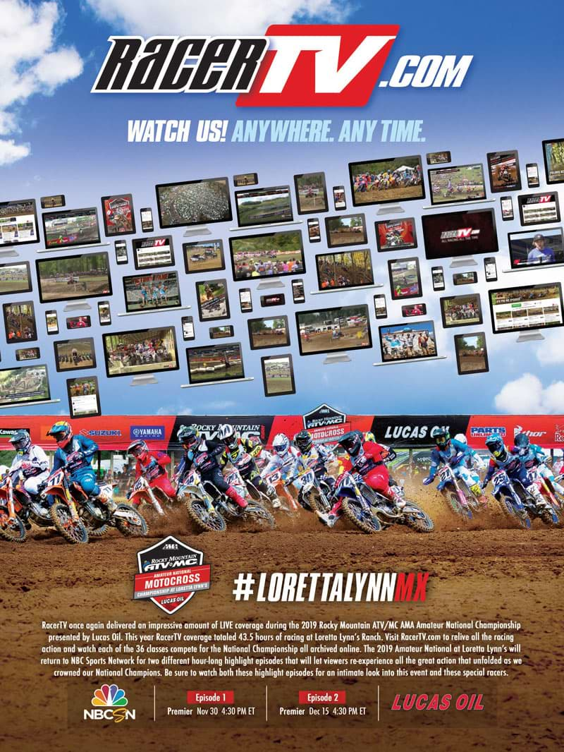 Racer X November 2019 - Racer TV Advertisement