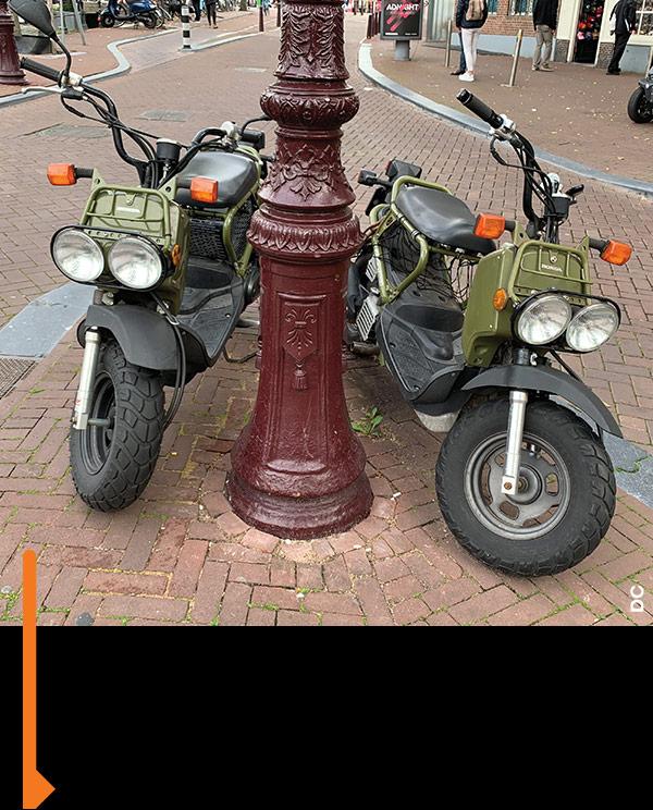 His-and-her Honda Ruckuses.