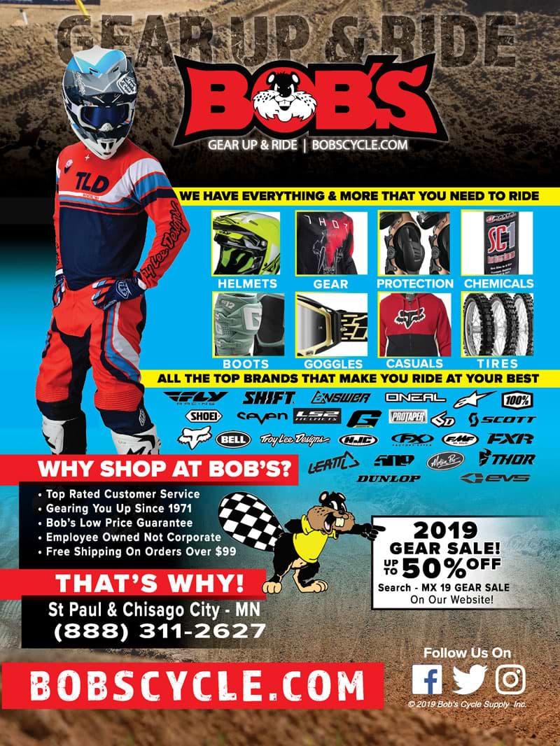 Racer X December 2019 - Bob's Cycle Advertisement