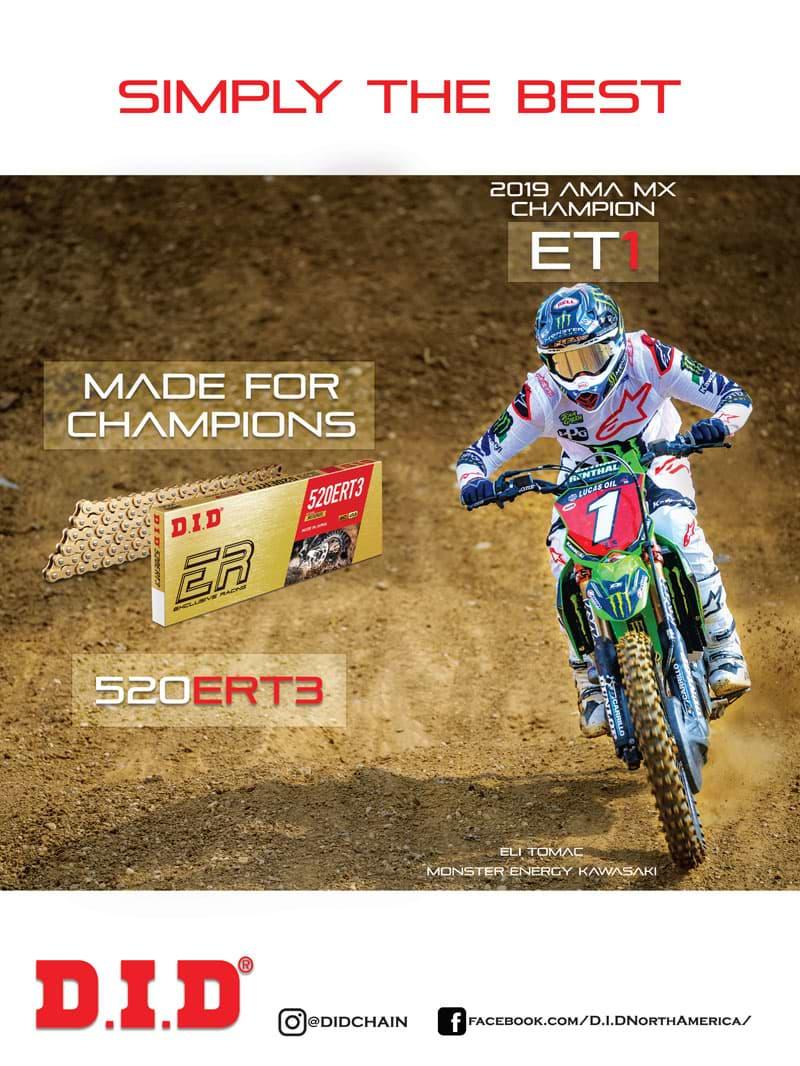 Racer X December 2019 - D.I.D. Advertisement