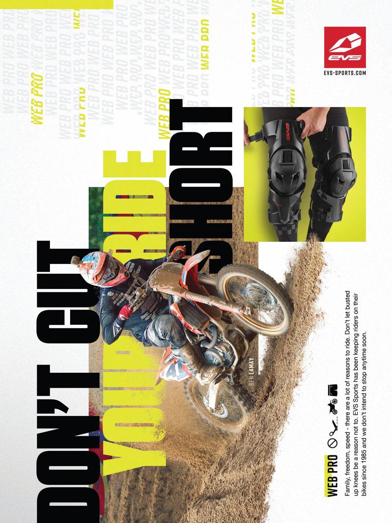 Racer X December 2019 - EVS Sports Advertisement