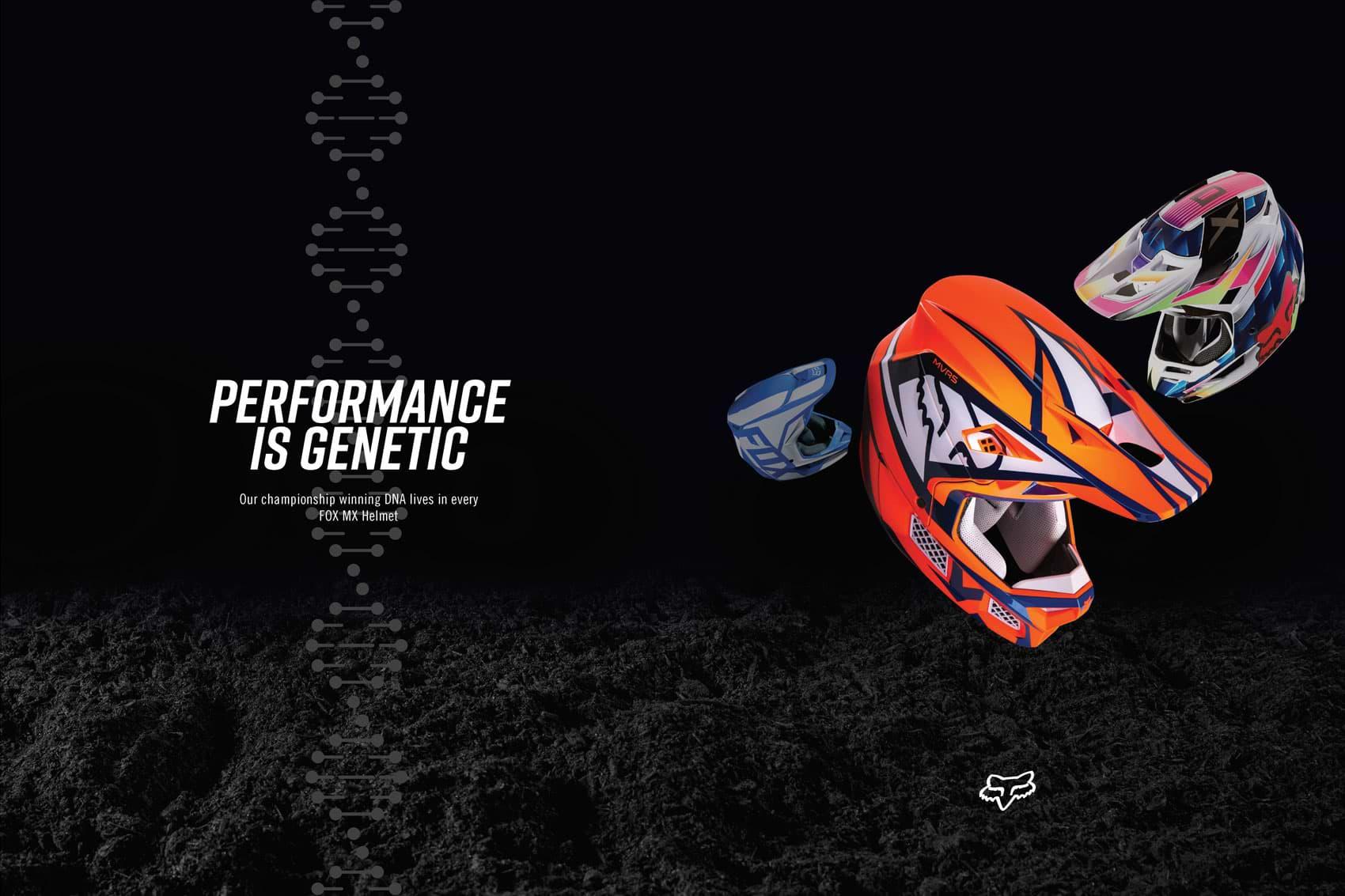 Racer X December - Fox Racing Advertisement
