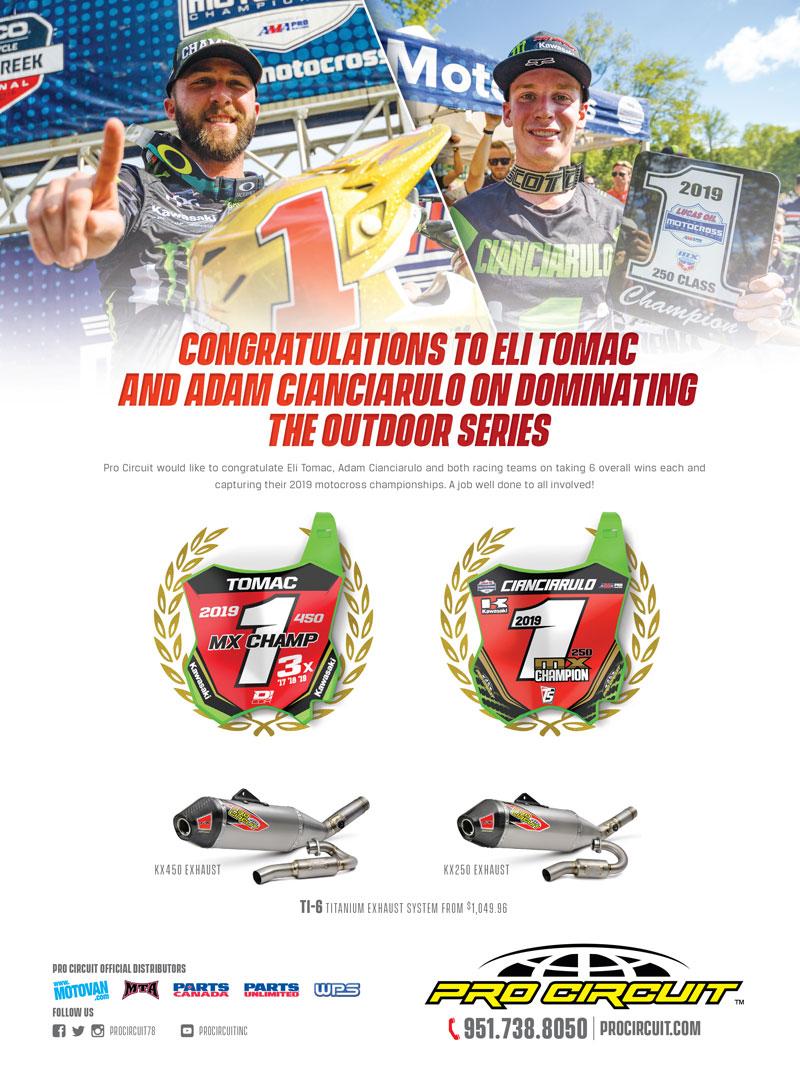 Racer X December 2019 - Pro Circuit Advertisement