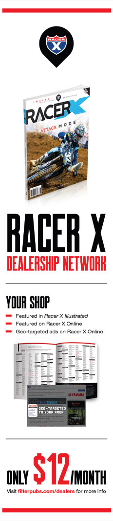 Racer X Dealership Network Advertisement