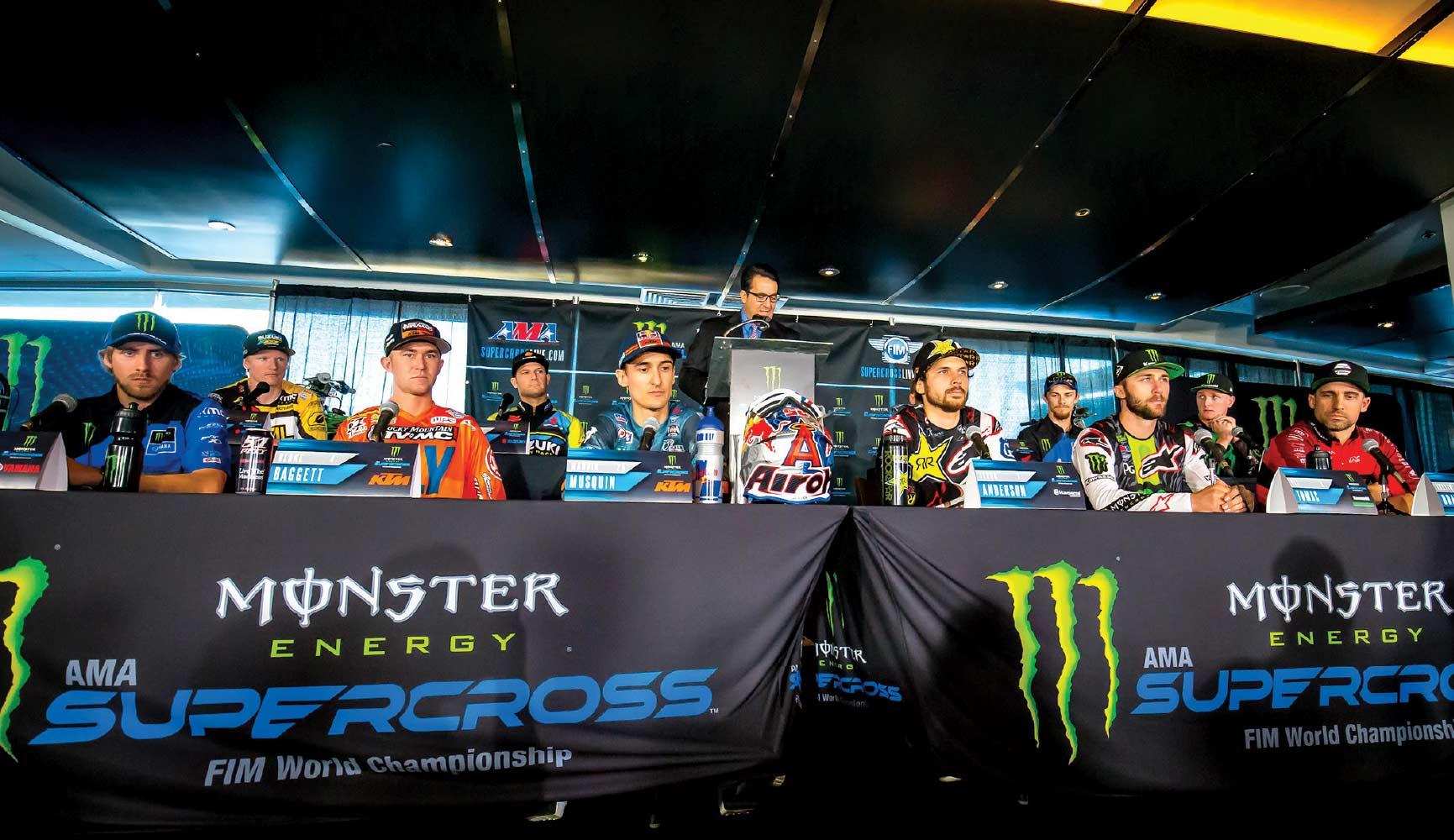 Preseason SX press conference