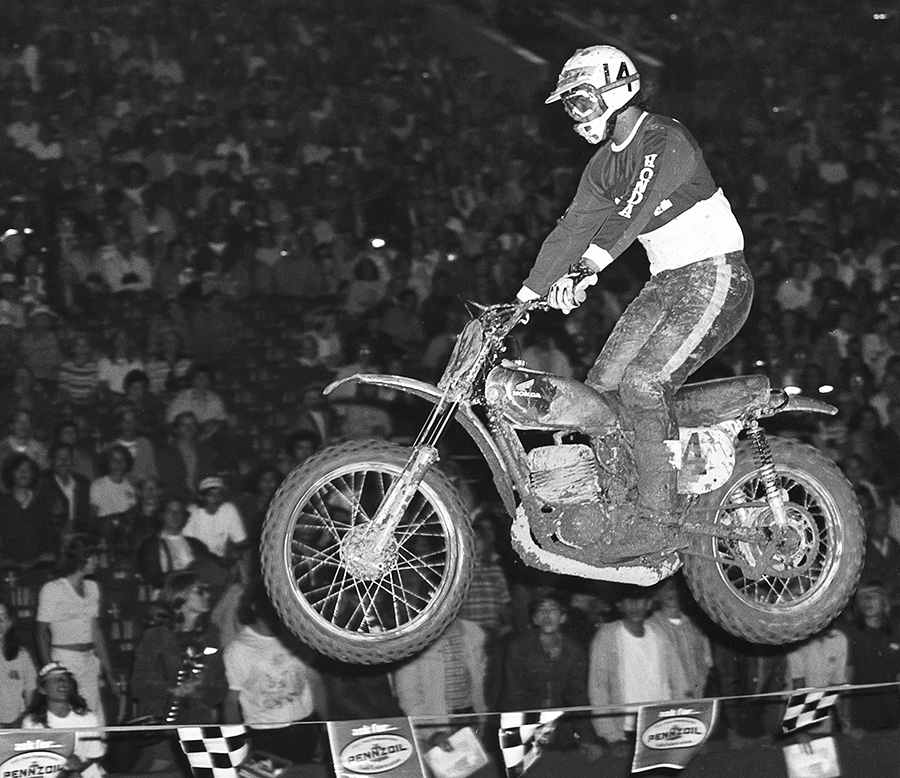 Marty Tripes at Superbowl of Motocross 1972