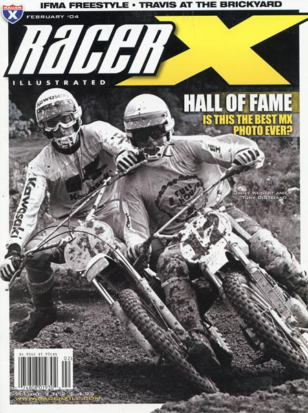 Charley Morey's classic photo of Tony D. and The Jammer made the cover of Racer X a few years back. It's arguably the best motocross photo of all time.