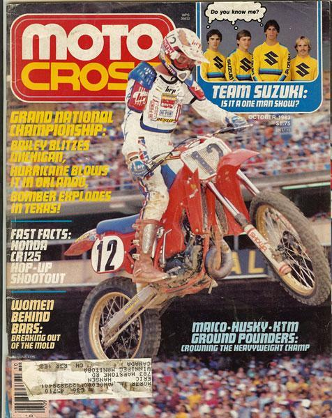 Bob Hannah went red in '83 and was the fastest rider but injuries set him back.