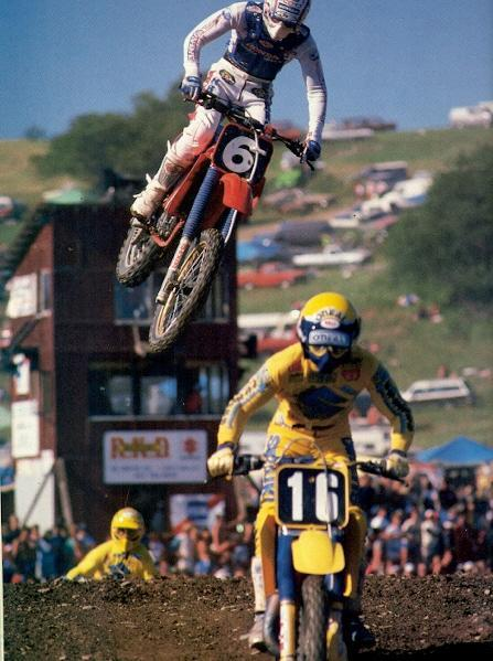 Ron Lechien was the man in the 1985 125 nationals as he almost won every race on his really trick HRC125 Honda.