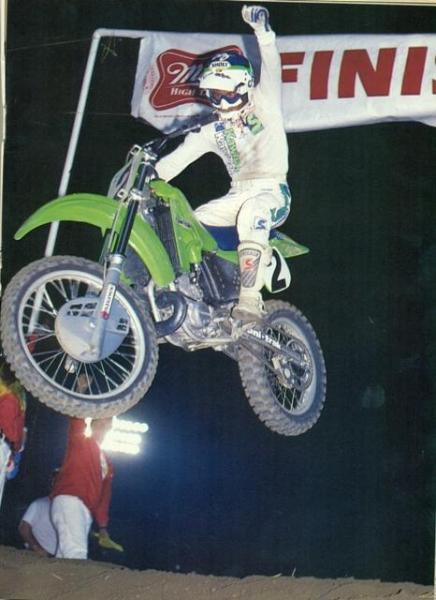 Kawasaki's Jeff Ward was the man in '85 as he swept the 250 nationals and supercross standings.