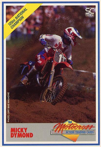 Having taken over the 125cc spot for Team Honda, Mickey Dymond was able to win the title in both '86 and '87.