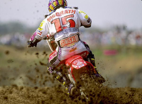 Jeremy McGrath won his first AMA Motocross race in 1993 in the 125 class.