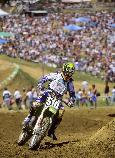 In only his second-ever professional race, Kevin Windham nearly won the first moto of the '94 High Point National.