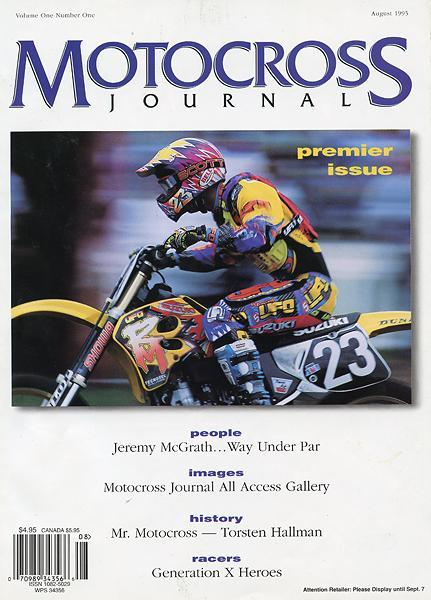 Tim Ferry graces the cover of the second-ever issue of Motocross Journal.