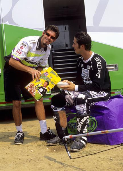 Here is Emig on set of the