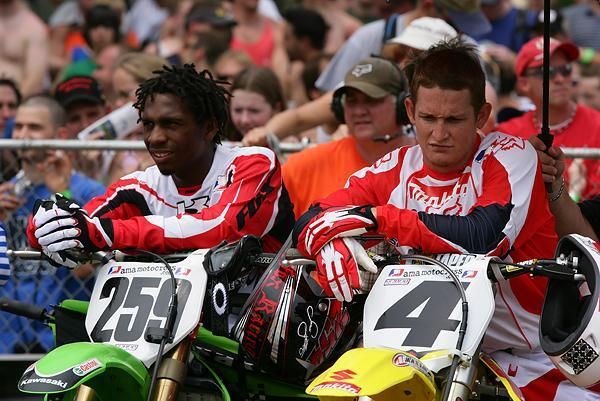 James Stewart and Ricky Carmichael finally got to race each other in 2005.