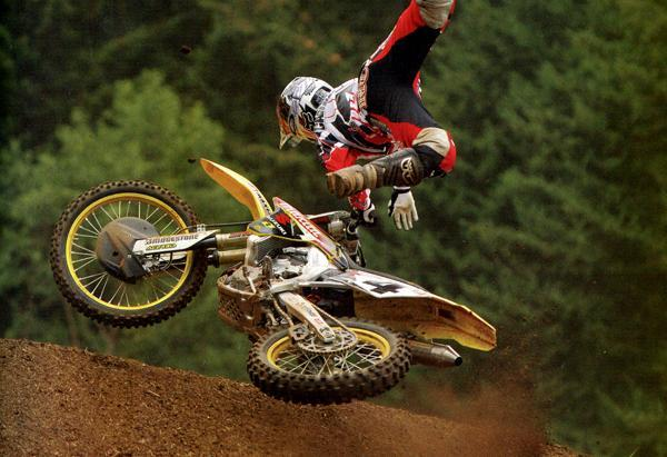 Carmichael taking a big spill at Washougal.